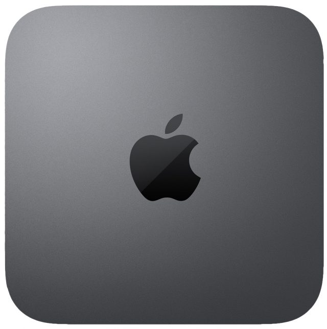 The top of the Mac mini