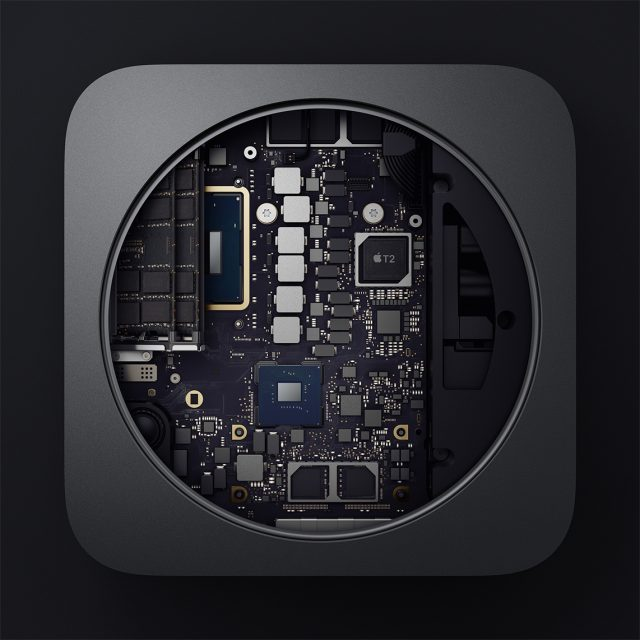 Inside the new Mac mini.