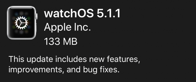 watchOS 5.1.1 release notes