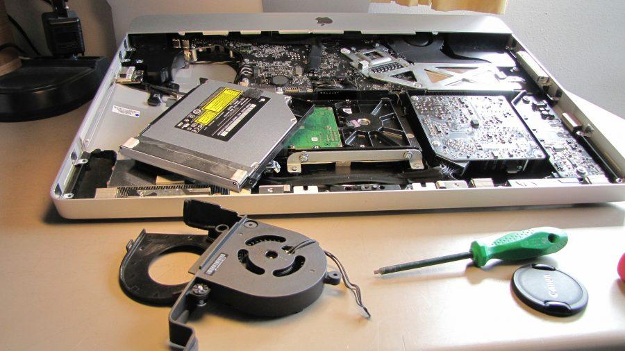 A disassembled iMac.