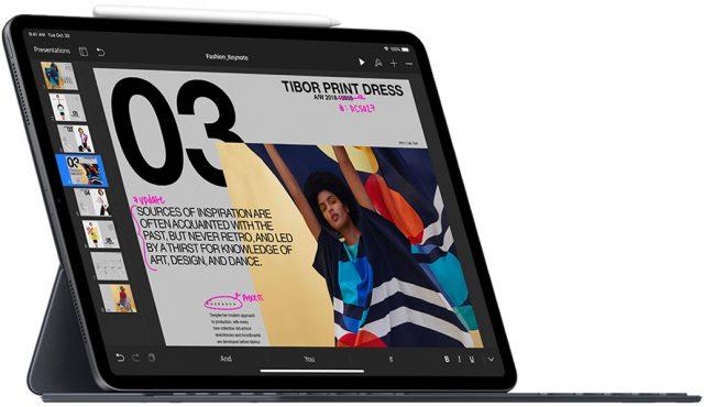 De iPad Pro met de Smart Keyboard Folio.
