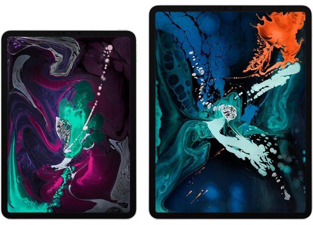 Both sizes of the new iPad Pro.