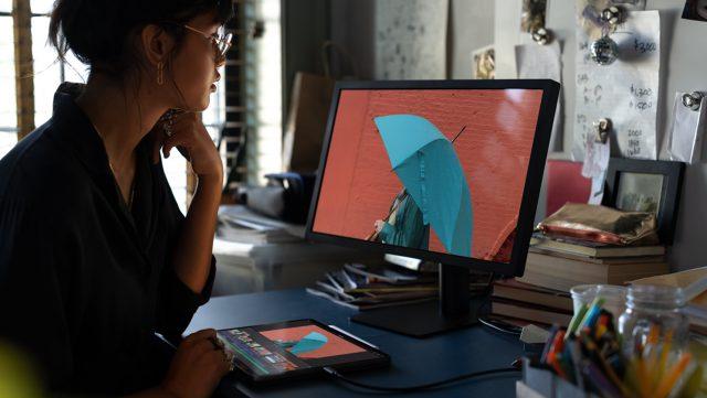 Een iPad gebruiken met een extern beeldscherm.