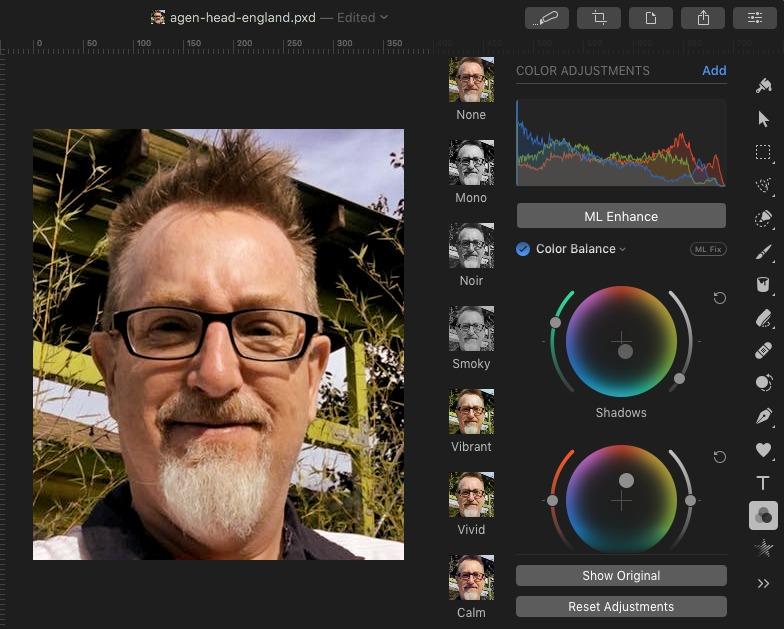 Pixelmator Pro Color Wheel Tools
