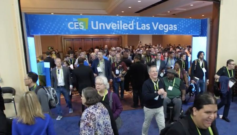 The entrance to CES Unveiled.