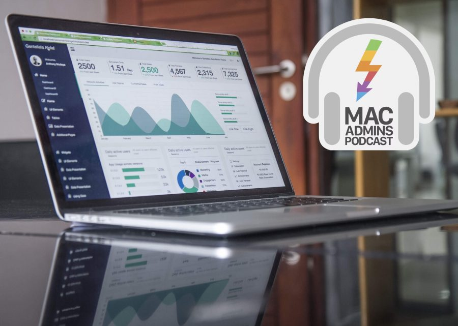 Photo of a MacBook with MacAdmins logo