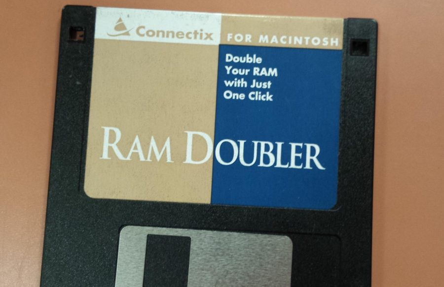 Photo of a RAM Doubler floppy disk
