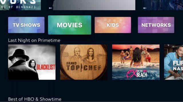 Spectrum TV app's Browse screen