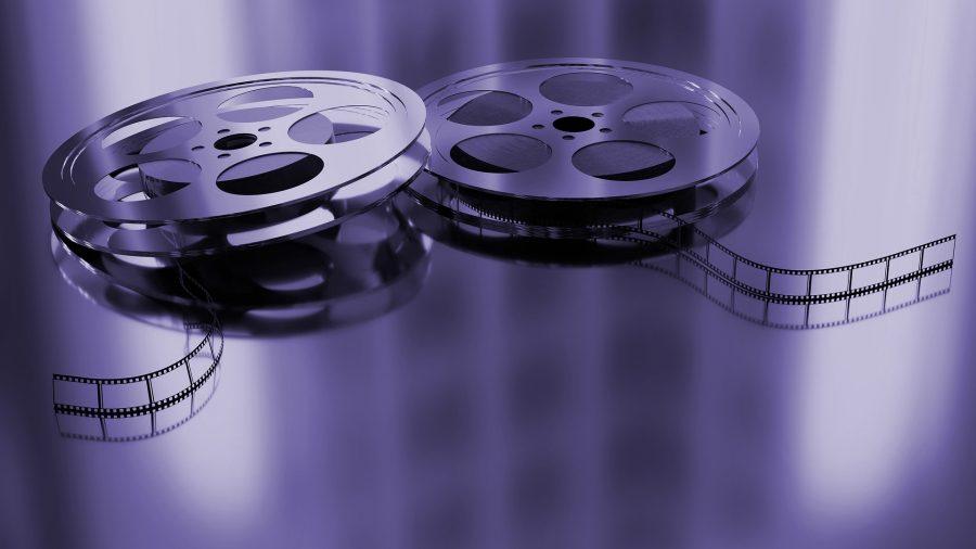 Purple tinted film rolls