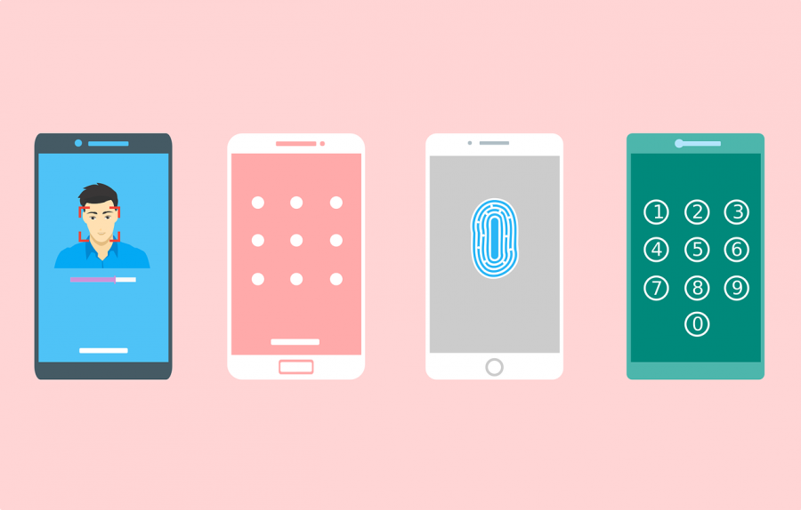 An illustration of different phone unlocking methods.