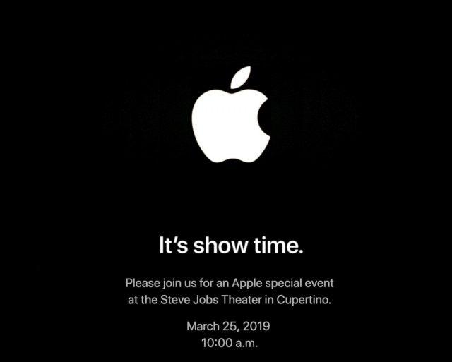 Invite to Apple's March 25th event