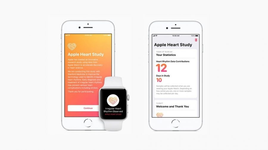 Example notifications in Apple Heart Study