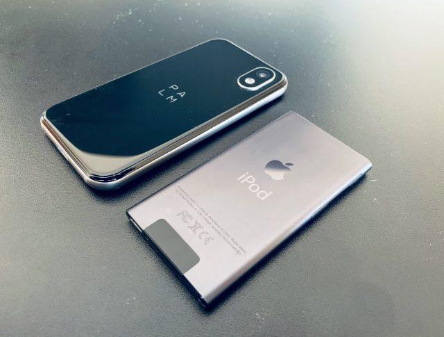 Palm phone vs. iPod nano