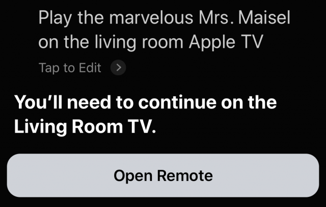 Apple TV Siri commands