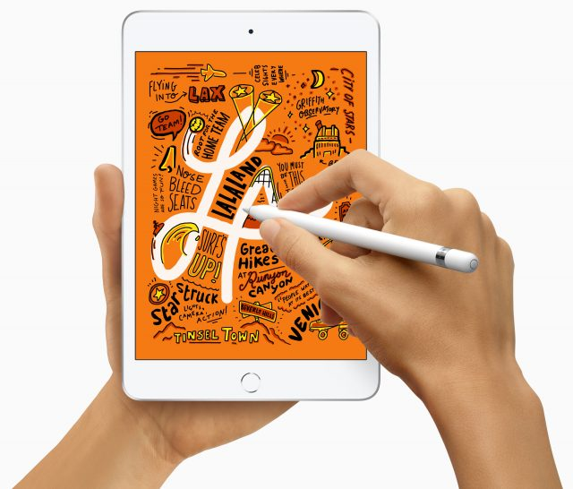 Photo of an iPad mini with Apple Pencil