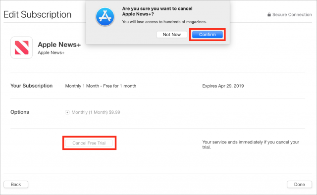 Canceling Apple News+