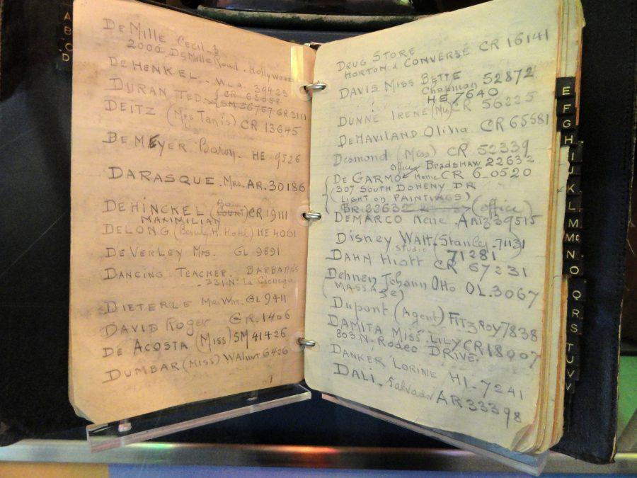Photo of Jack Warner's address book