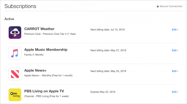 Managing subscriptions in iTunes