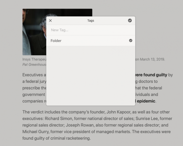 Instapaper tagging in Reeder 4