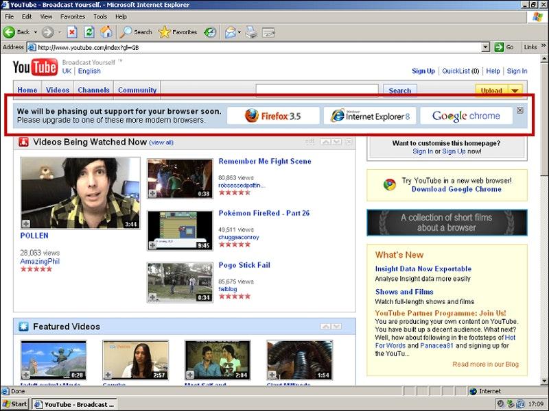 How Rogue YouTube Employees Killed Internet Explorer 6