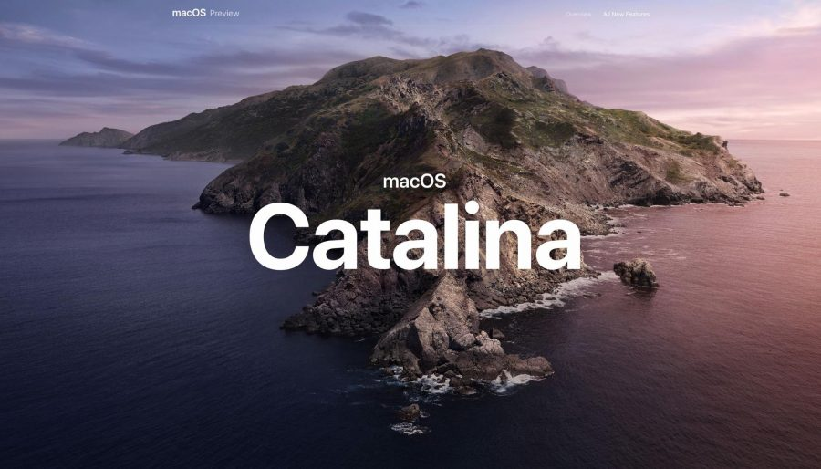The macOS Catalina hero image.