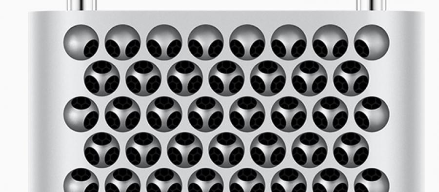 The new Mac Pro's vent holes