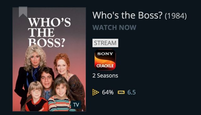 JustWatch results for Who's the Boss?