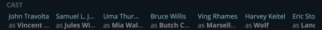 JustWatch's cast list.
