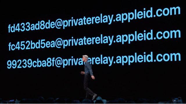 E-mailadressen gegenereerd door Sign In with Apple