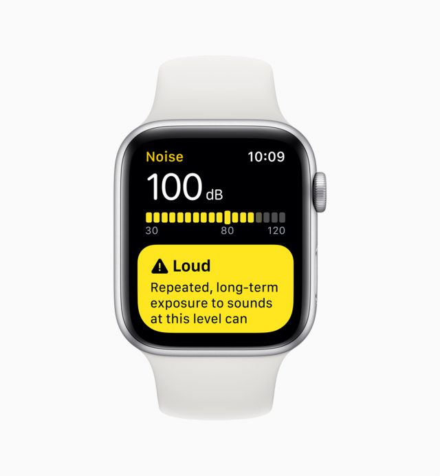 The Noise app in watchOS.