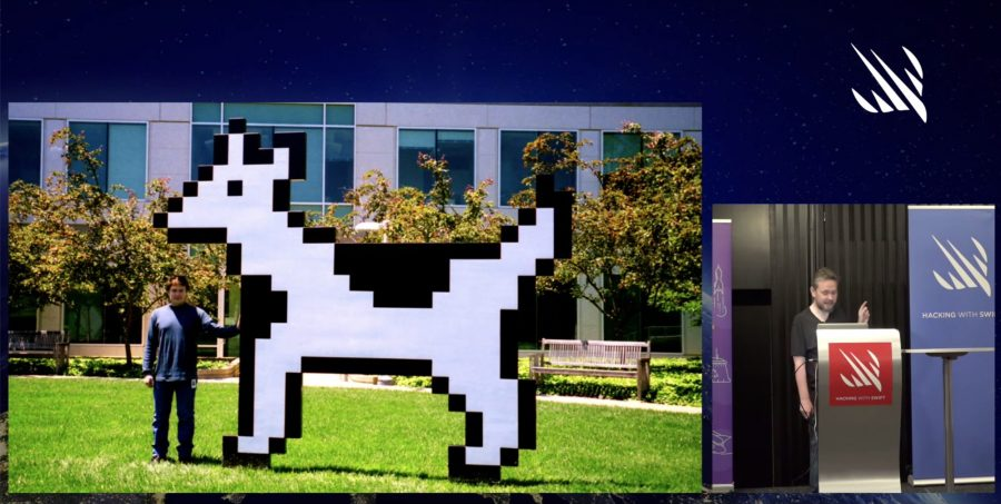 Clarus the Dogcow in Easter Egg preso by James Thomson