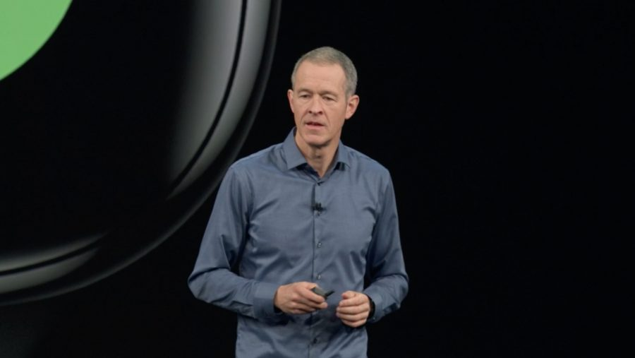 Jeff Williams on stage at WWDC