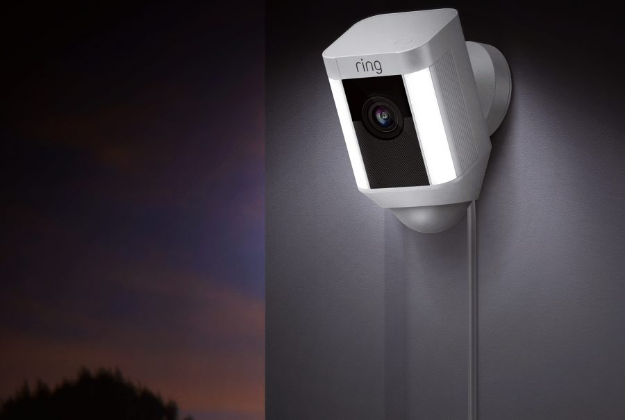 A Ring security camera.