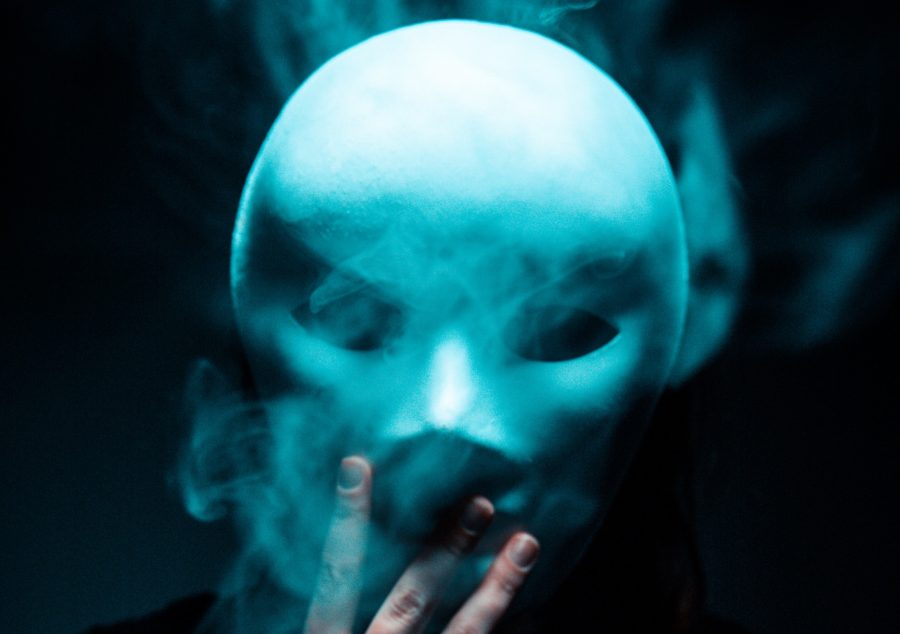 Ghostly image of a mask