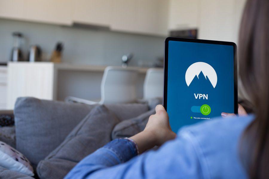 A person using a VPN app.
