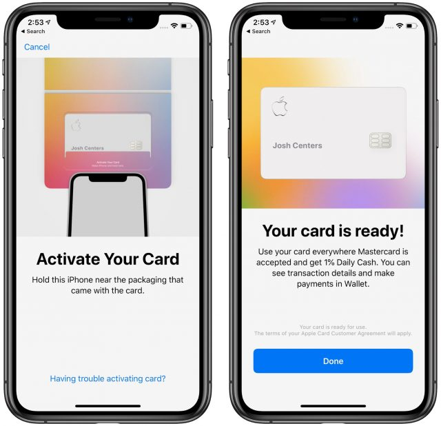 Activating Apple Card