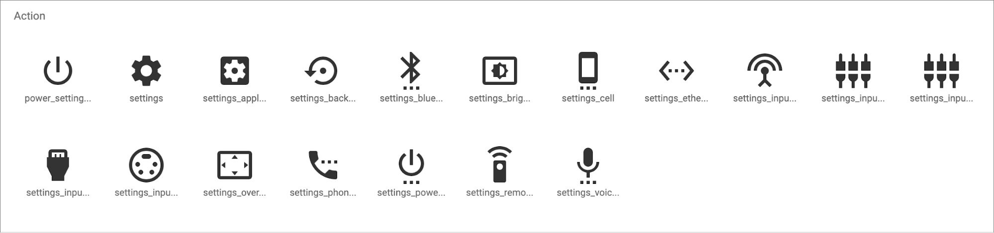 Google's Material Design icons