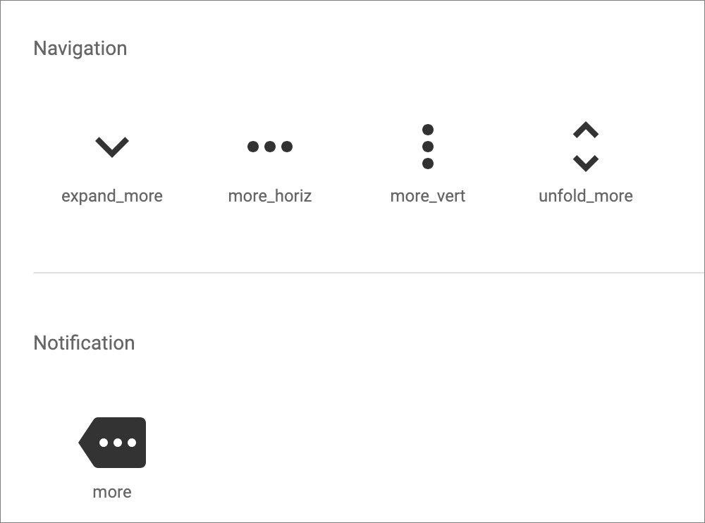 More icons in Material Design