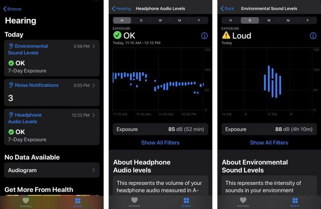 Hearing in iOS 13 Health