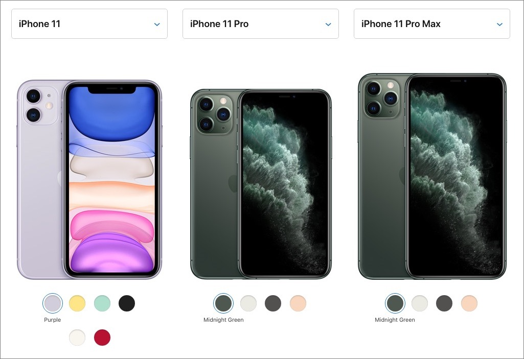 A comparison of iPhone 11 models