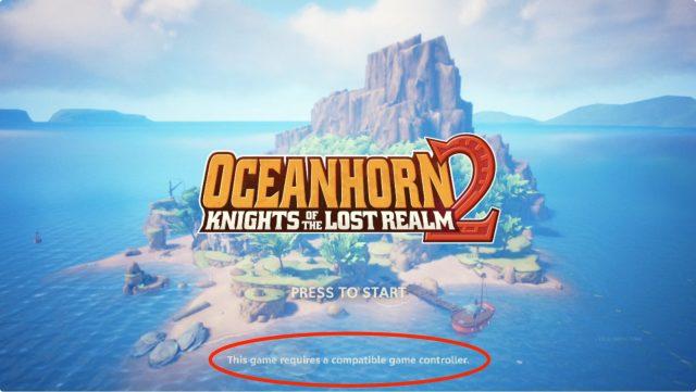 Oceanhorn 2 requires a controller on tvOS