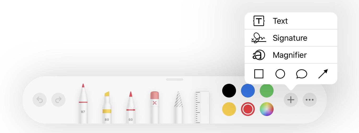 Extra markup tools