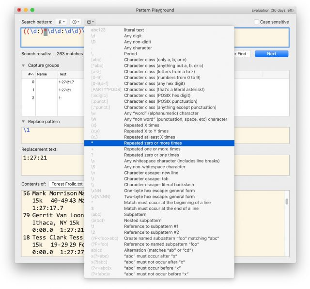 BBEdit 13 Grep Cheat Sheet