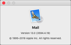 Mail 13.0 About box