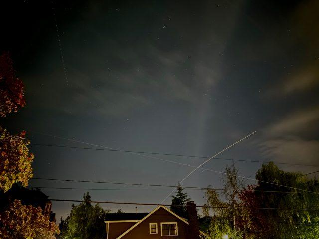 A long-duration Night mode shot
