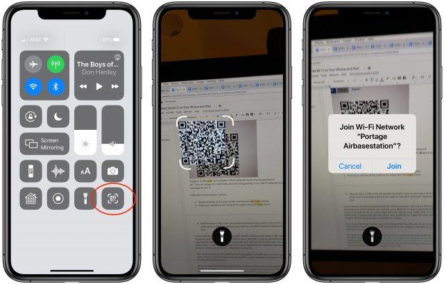 Using iOS 13's QR Code scanner