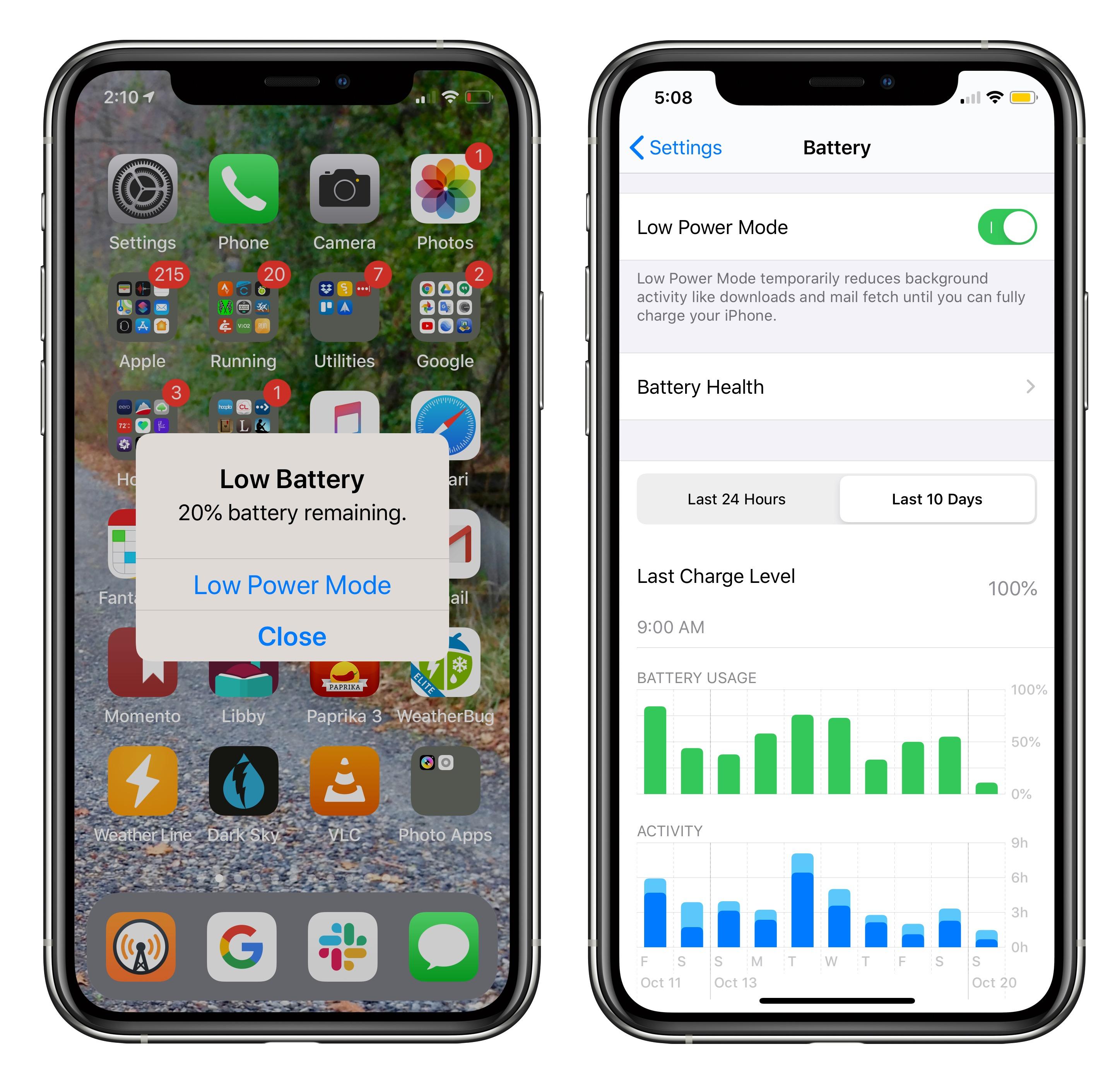 iOS batterijstatus