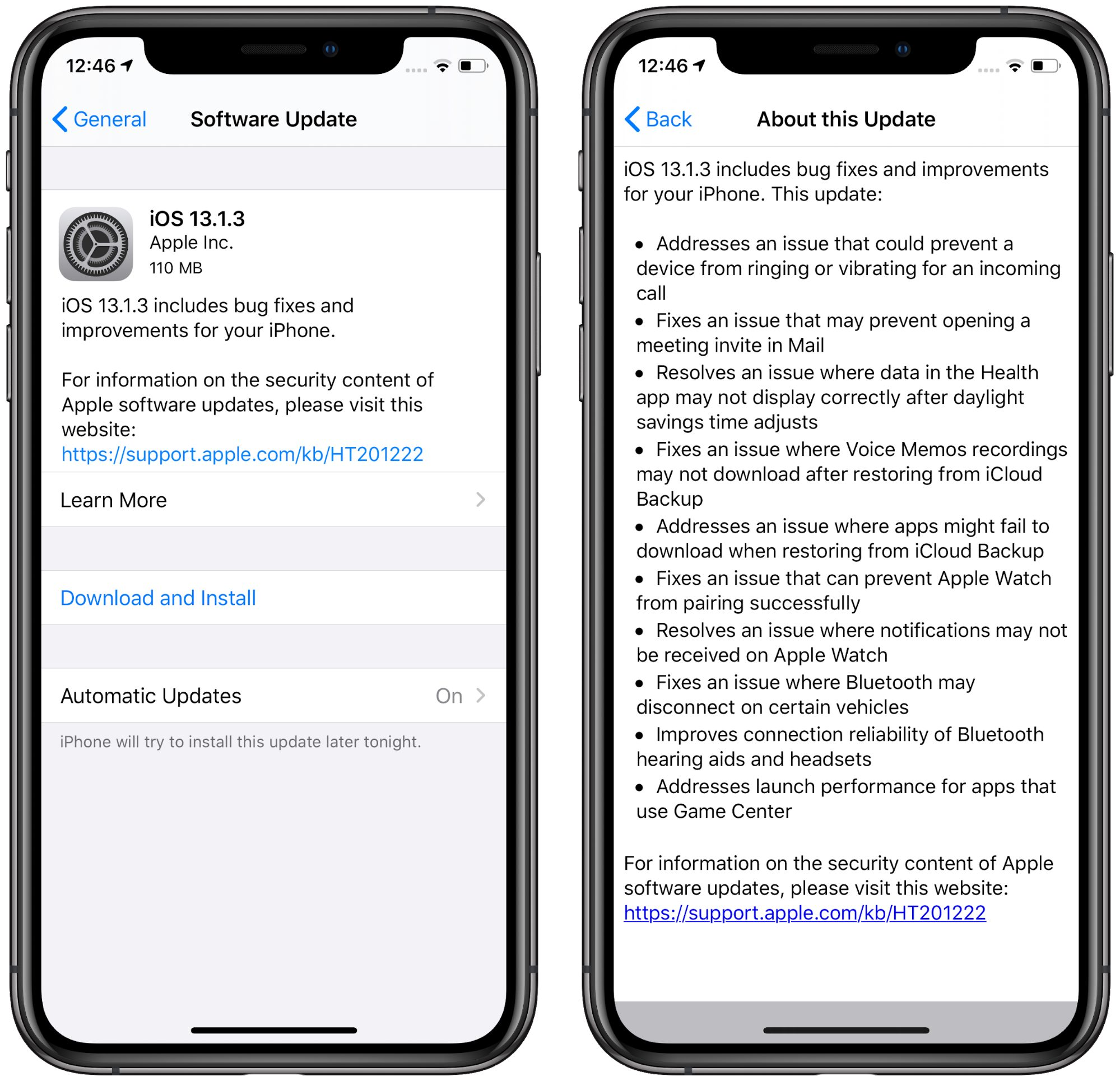 IOS 13.1.3 continues rapid rollout of urgent bug fixes