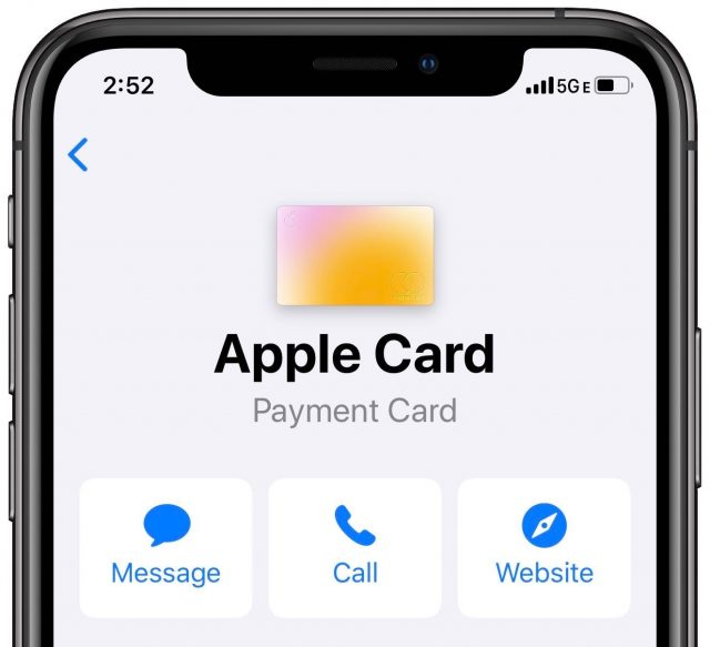 Apple Card contact options
