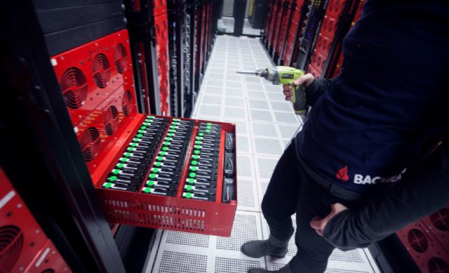 Photo of Backblaze data center